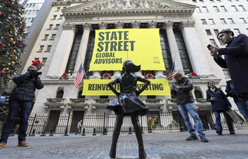 "Wall Street's ""Fearless Girl"" relocated in front of NYSE"