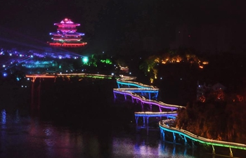 Light show held in Shaxian County, SE China's Fujian