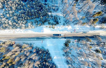Scenery of Beiji Village in Mohe, northeast China's Heilongjiang