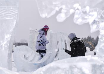 35 sculptures selected for display at China Changchun Int'l Ice and Snow Sculpture Exhibition