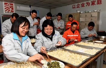 Chinese people greet Dongzhi by eating dumplings