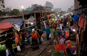 Daily life along rail lines in Dhaka, Bangladesh