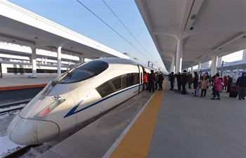 High-speed railway starts operation in China's coldest region