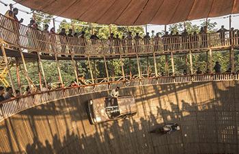 In pics: stunt show held in in Bolpur, India