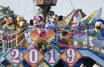 New year celebration event held at Tokyo Disneyland
