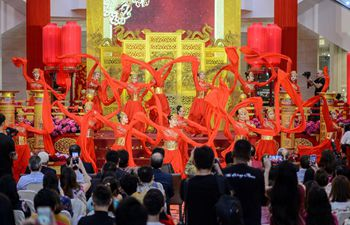 "People visit Chinese New Year decoration ""A Regal Celebration"" in Kuala Lumpur, Malaysia"