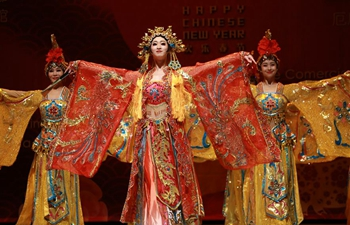 Chinese dancers perform in Quito, Ecuador