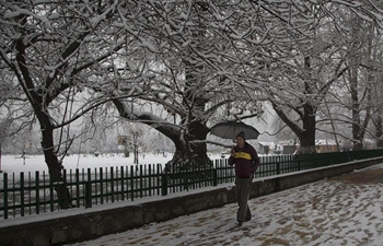 In pics: snow-covered Srinagar city