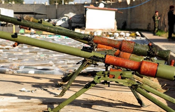 Confiscated weapons found in military base in Damascus