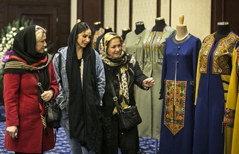 People visit Iranian fashion exhibition in Tehran