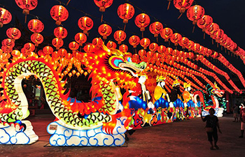 Lantern show held in Bangkok to celebrate Chinese Lunar New Year