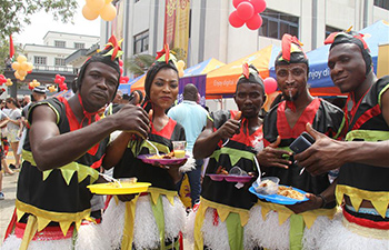 Spring Festival temple fair held in Abuja, Nigeria