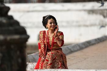In pics: eve of Valentine's Day in Nepal