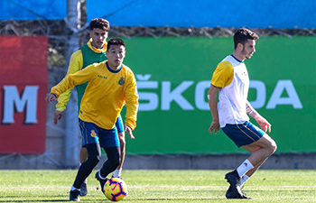 RCD Espanyol take part in open training session in Barcelona