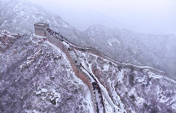 Snow scenery of Badaling Great Wall