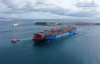 One of world's largest container ships docks at Greece's Piraeus