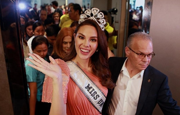 Miss Universe 2018 Catriona Gray attends press conference in Quezon City, the Philippines