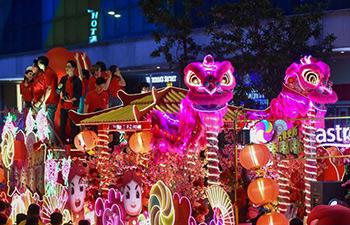 Chingay Night Parade held in Johor Bahru, Malaysia
