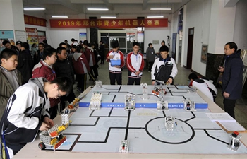 Adolescent robotics competition held in Xingtai, China's Hebei