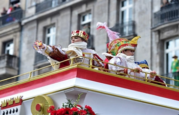 Rose Monday carnival parade kicks off in Cologne, Germany