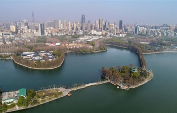 View of East Lake in Wuhan, central China's Hubei