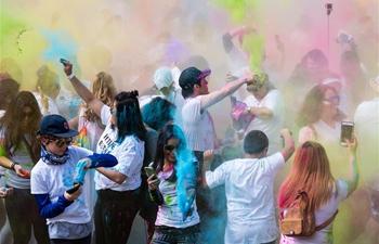 People celebrate Hindu festival of Holi in Los Angeles