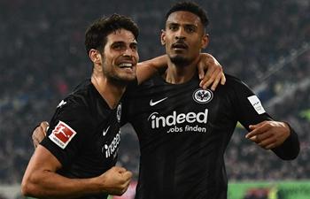 Frankfurt beats Dusseldorf 3-0 at Bundesliga match