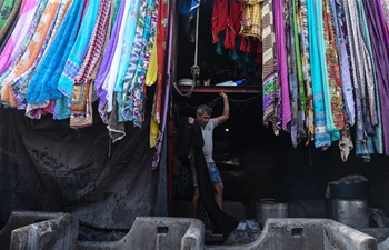 Historic open-air laundry in Mumbai, India
