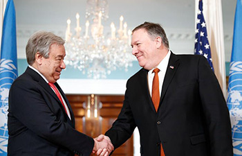 Pompeo meets with Guterres in Washington D.C.