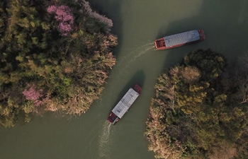 Spring scenery in Xixi National Wetland Park in Hangzhou