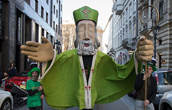 Saint Patrick's Day march held in Budapest, Hungary