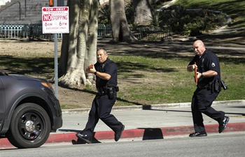 Policemen take part in multi-agency active shooter response training in Los Angeles, U.S.
