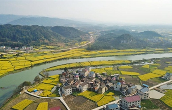 Spring view in Dunzhai Township, SW China's Guizhou