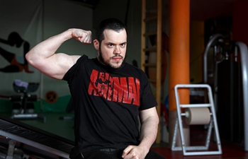 In pics: only bodybuilder with cerebral palsy in BiH