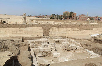 Royal hall annexed to pharaoh's temple discovered in southern Egypt