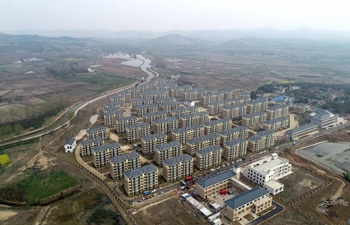 Aerial view of relocation community in Feixi, east China's Anhui