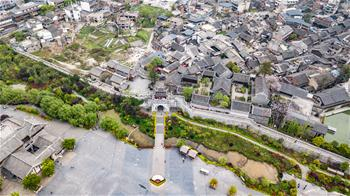 View of Qingyan ancient town in Guiyang, SW China's Guizhou