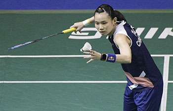 In pics: quarterfinals at Singapore Badminton Open
