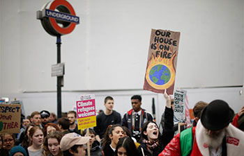 Young people call for action on climate change in London