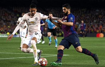 Barcelona beats Manchester United 3-0 at UEFA Champions League quarterfinal match