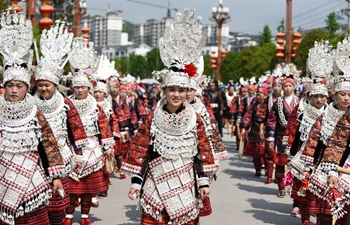 Miao Sisters Festival celebrated in southwest China's Guizhou
