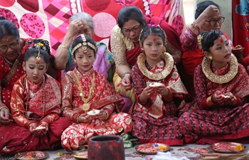 Bel Bibaha ceremony held in Kathmandu, Nepal