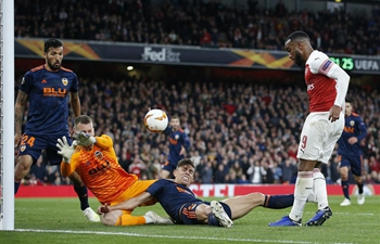 Arsenal beats Valencia 3-1 during UEFA Europa League semifinal