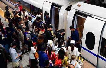 Zhengzhou railway system witnesses travel rush as Labor Day holiday ends