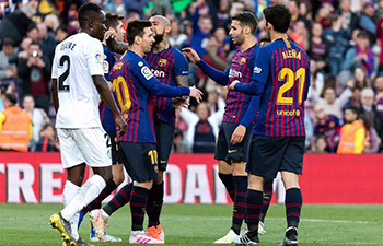 FC Barcelona beats Getafe 2-0 in Spanish league