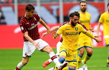 AC Milan beats Frosinone 2-0 at Serie A soccer match