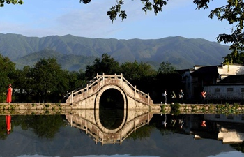 Morning scenery of Hongcun Village scenic spot in Anhui