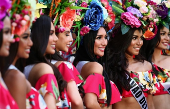 "Annual ""Grand Parade of Beauties"" held in Quezon City, the Philippines"