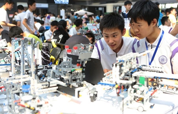 Municipal teenagers' robotics competition held in China's Tianjin
