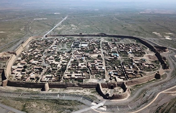 In pics: turtle-shaped Yongtai ancient city in NW China's Gansu